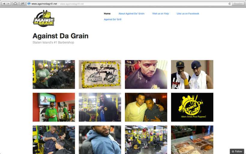 Web Design: Against Da Grain Barbershop