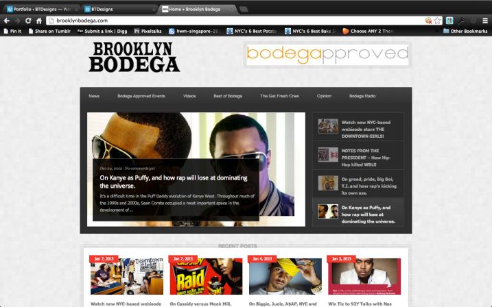 Web Design: Brooklyn Bodega Web Site