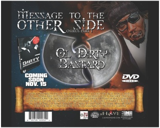 CD Design: Ol Dirty Bastard. Message to the other side