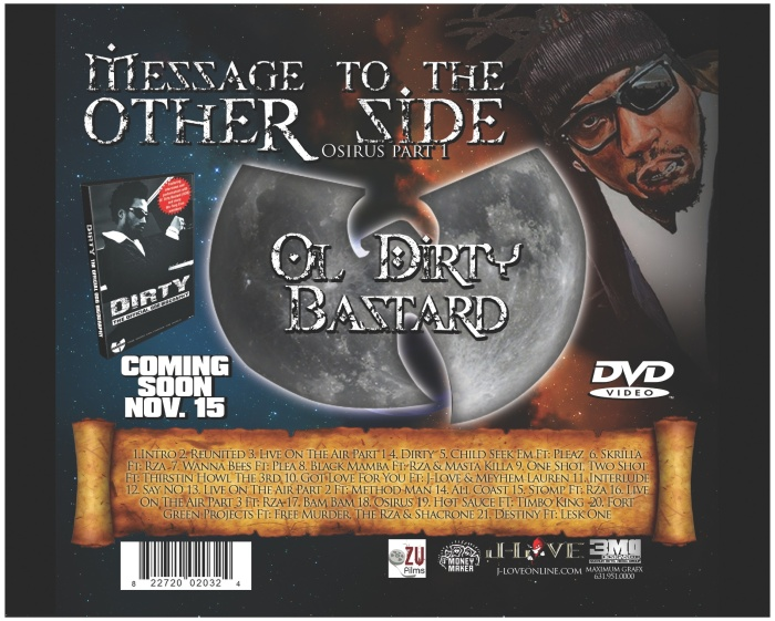 CD Design: Ol Dirty Bastard. Message to the otherside