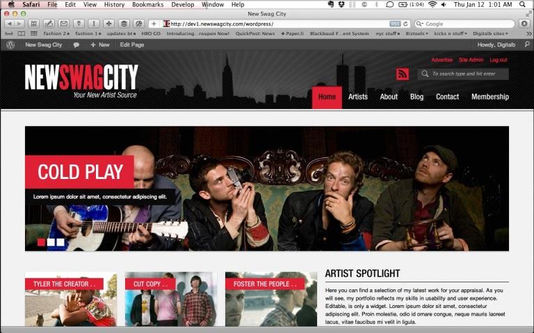 Web design: New Swag City