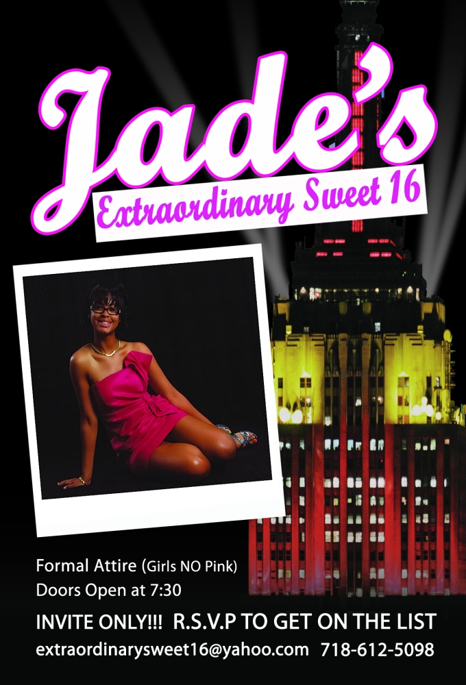 Flyer Design: Sweet 16 Party