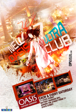 NEW OASIS ULTRA CLUB - flyer design