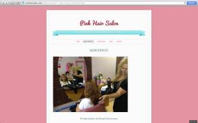 Website Design: Pink Hair Salon