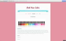 Website Design: Pink Hair Salon