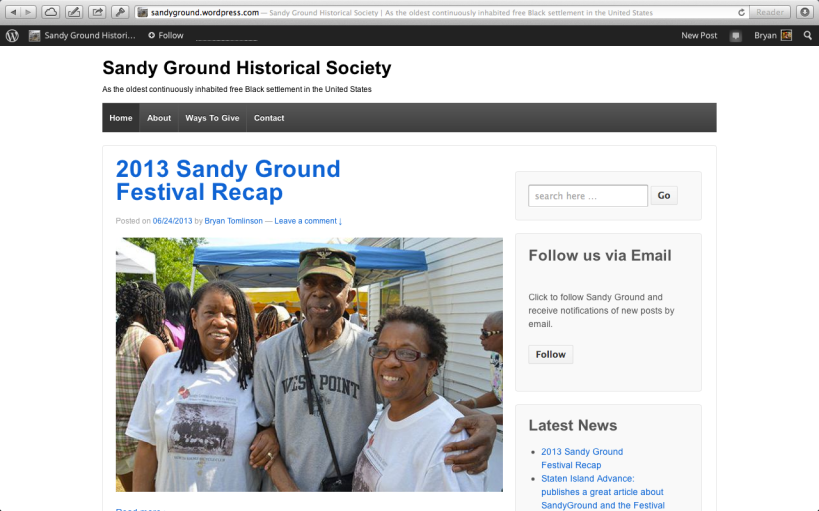 Web Design: Sandy Ground Historical Society
