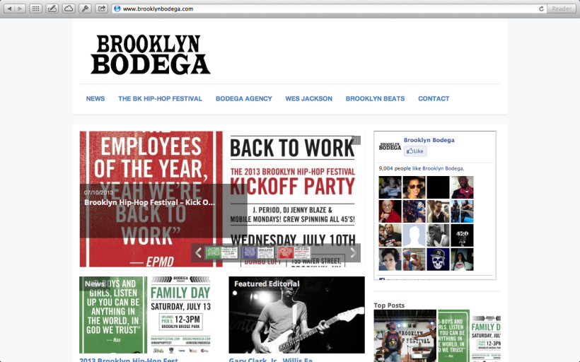 http://brooklynbodega.com - Website Design and blogger