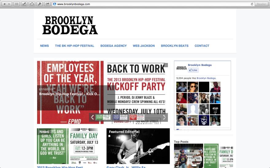 http://brooklynbodega.com - Website Design and blogger
