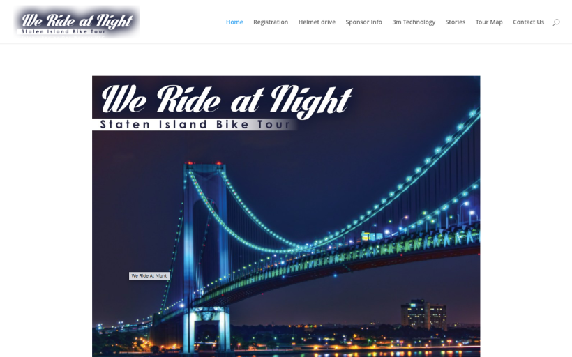 WeRideatNight Website design
