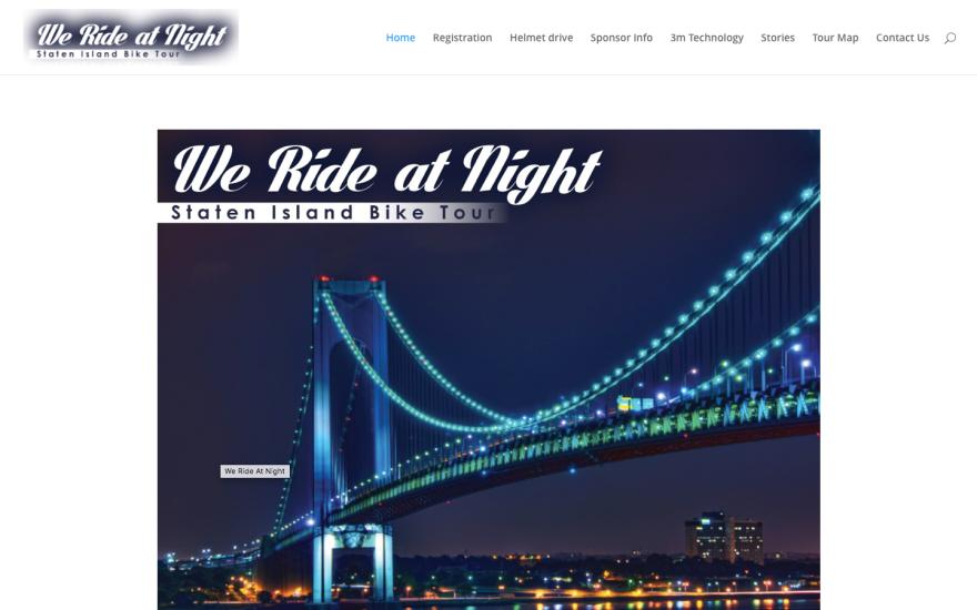 WeRideatNight Website design
