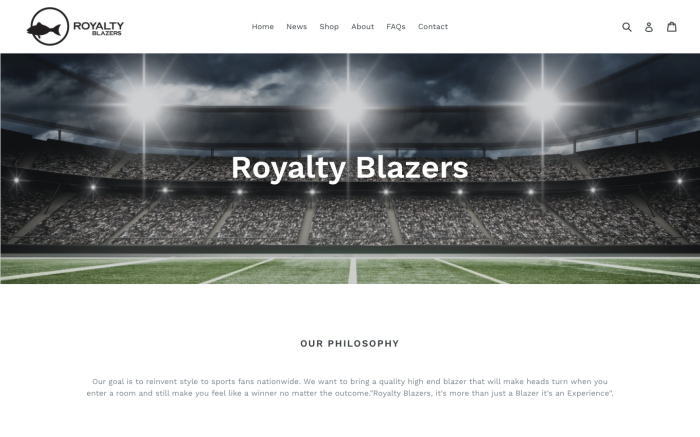 Royalty Blazers: E-Commerce Development