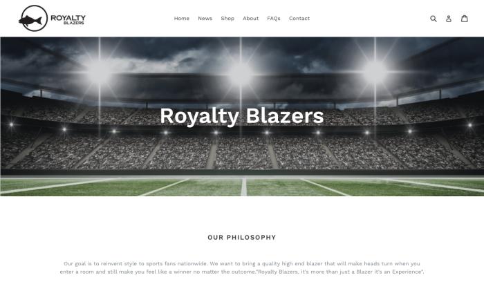 Royalty Blazers: E-CommerceDevelopment