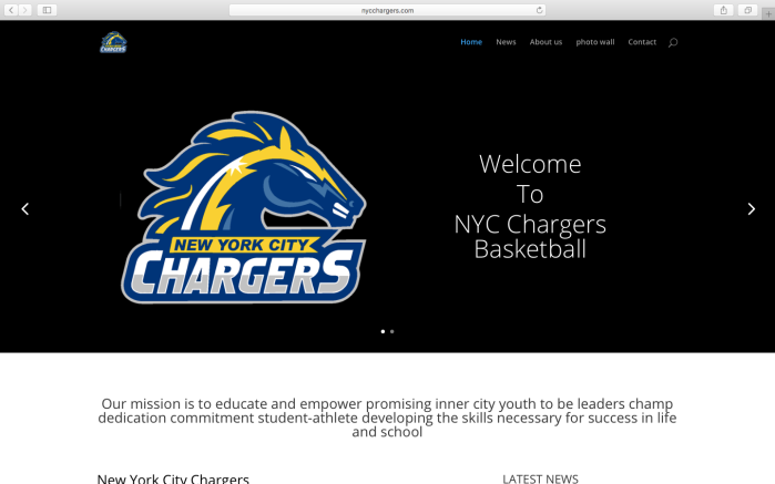 New York City Chargers Basketballl: Website Development