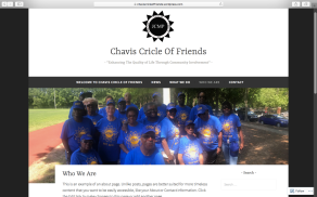 Website Chavis Cricle of Friends