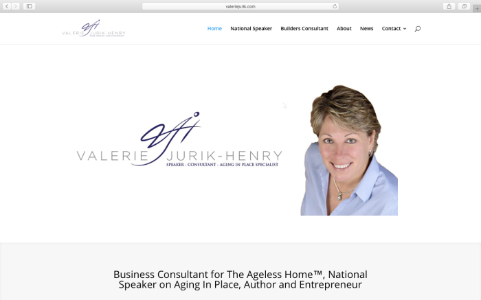 Valerie Jurik-Henry Website redesign